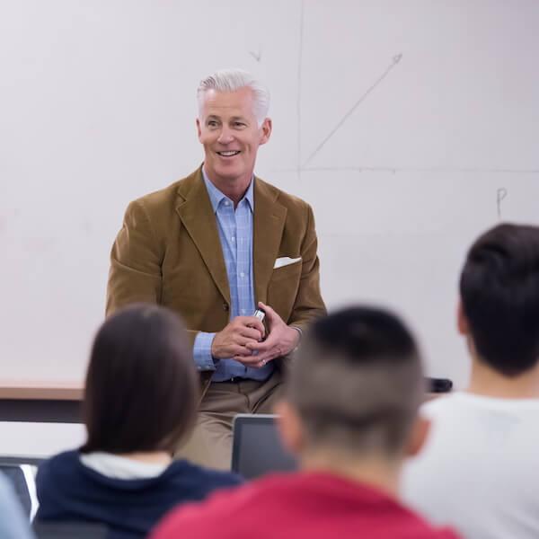 College Professor Teaching Students